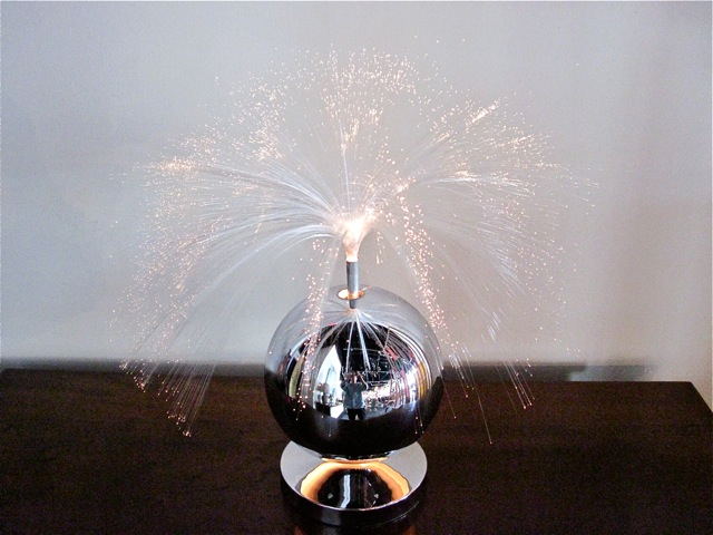Chrome Fiber Optic Table Lamp