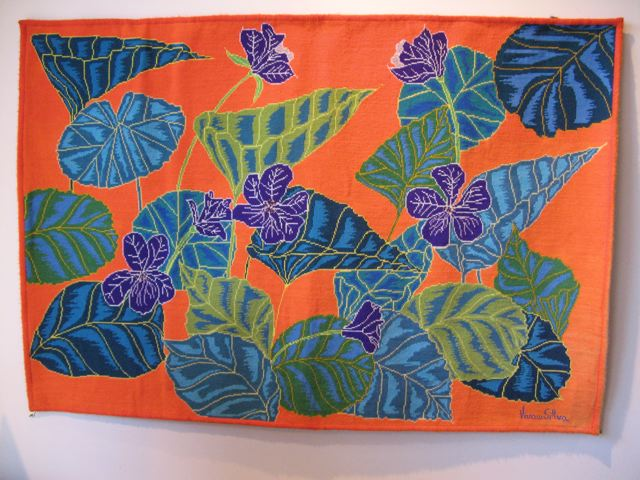 Brazilian Leaf and Flower Tapestry