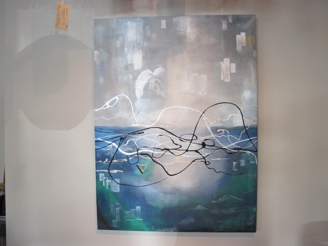 Gigi Cook <em>Blue Angel</em> Abstract Painting