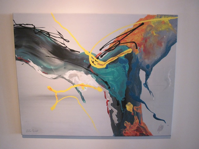 Gigi Cook Metallic <em>Flow</em> Abstract Painting